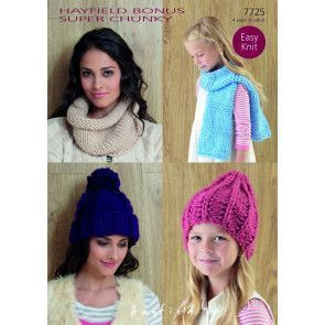 Hats, Snood and Scarf in Hayfield Bonus Super Chunky (7725)