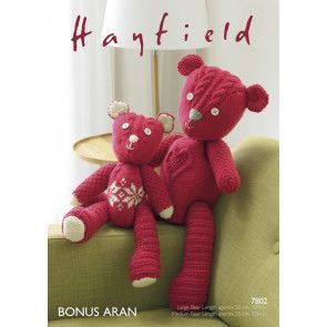Patchwork Bears in Hayfield Bonus Aran (7802)
