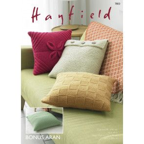 Cushion Covers in Hayfield Bonus Aran (7803)
