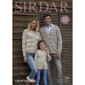 Cardigans in Sirdar Crofter DK (7835)