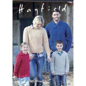 Sweaters in Hayfield Bonus Aran (7986)