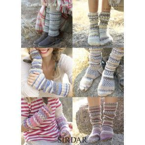 Socks, Leg Warmers and Wrist Warmers in Sirdar Crofter DK (9135)