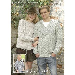 Sweaters in Hayfield Bonus Aran (9219)