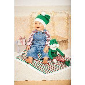 Buddy the Elf, Hat and Blanket in Stylecraft Wondersoft Stardust DK (9577)