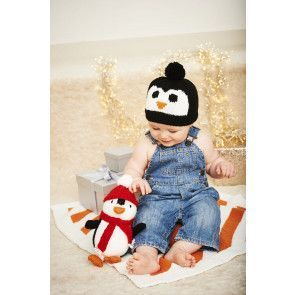 Piper the Penguin, Hat and Blanket in Stylecraft Wondersoft DK (9578)