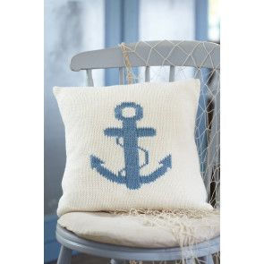 Anchor Cushion Cover Knitting Pattern - The Knitting Network