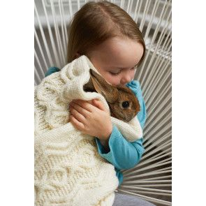 Aran Baby Blanket Knitting Pattern - The Knitting Network