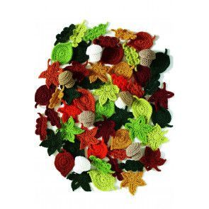 Colour crocheted autumn leaves