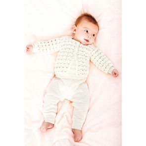 Crocheted baby cardigan