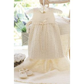 Baby Christening Set Crochet Patterns - The Knitting Network
