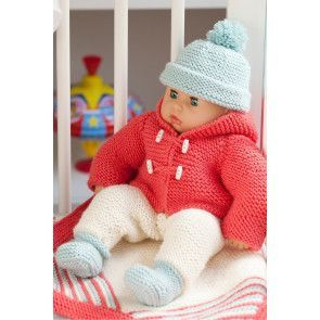 Baby Doll Jacket, Accessories And Blanket Set Knitting Pattern - The Knitting Network