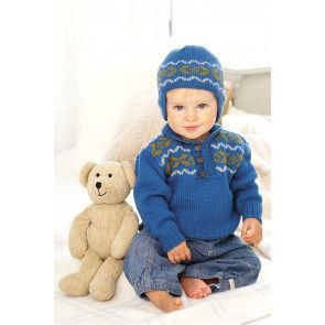 Baby Fair Isle Sweater And Hat Knitting Patterns