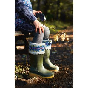 Boot Warmers For Wellies Knitting Pattern - The Knitting Network