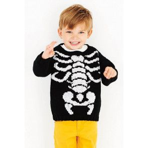 Boys Halloween Sweater Knitting Pattern