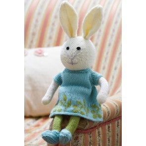 Bunny Rabbit Girl Toy Knitting Pattern - The Knitting Network