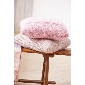 Cable And Moss-Stitch Cushion Cover Knitting Patterns - The Knitting Network