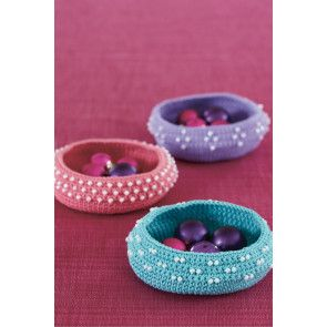 Christmas Bauble Bowls Crochet Pattern - The Knitting Network