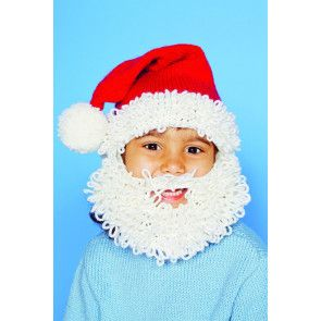 Children's knitted Santa hat with beard