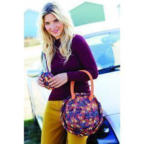 Circular crocheted bag and matching purse