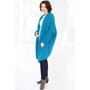 Coat Chunky Knitting Pattern - The Knitting Network