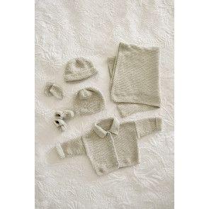 five piece baby gift set knitting pattern