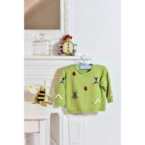 Child's Bug Sweater Knitting Pattern