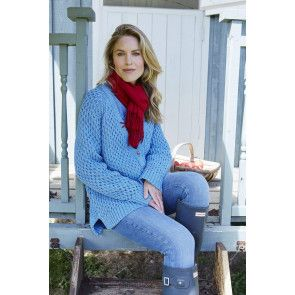 Cable cardigan with raglan sleeves and deep v-neck knitting pattern