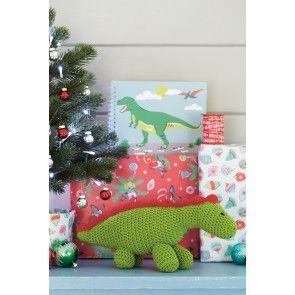 Crocheted dinosaur toy