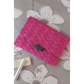 Crocheted evening clutch bag