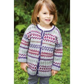 Fair Isle Girls Cardigan Knitting Pattern - The Knitting Network