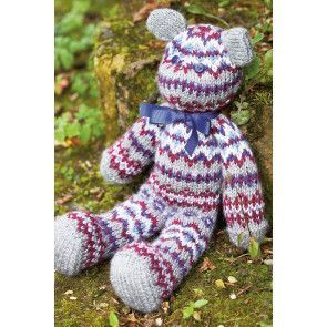 Fair Isle Teddy Bear Toy Knitting Pattern - The Knitting Network