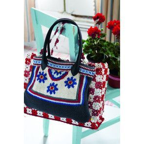 Women's tote bag with a bright floral design