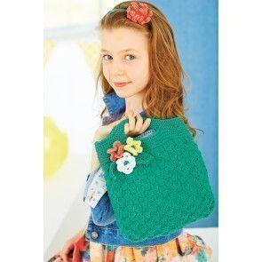 Flower Motif Girls Bag Knitting Pattern - The Knitting Network