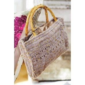 Crochet sequins into this sparkly bag for real glamour