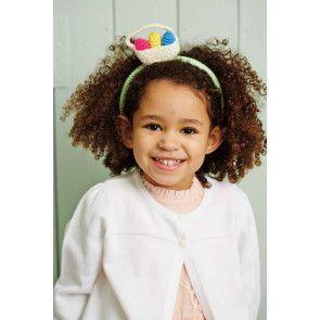 Children's fascinator with easter eggs in basket