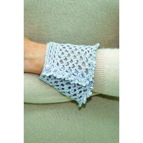 Women's crocheted chain cuff