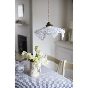 Crocheted floppy square lampshade cover