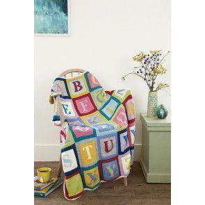 Alphabet Blanket Knitting Pattern