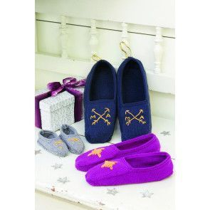 Knitted loafer-style slippers for children, women and men