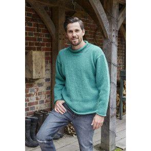 mens plain sweater with drop shoulder