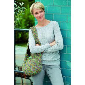 Green textured shoulder bag for ladies
