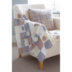 Crocheted patchwork blanket