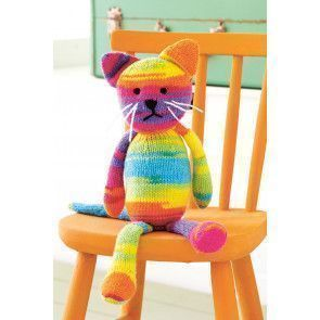 Rainbow Cat Toy Knitting Pattern