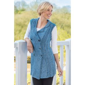 Knitted ladies roman cable waistcoat