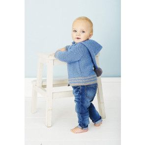 Childs jacket with hood in garter stitch