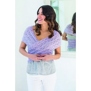 Women's shawl knitted with a shimmery yarn
