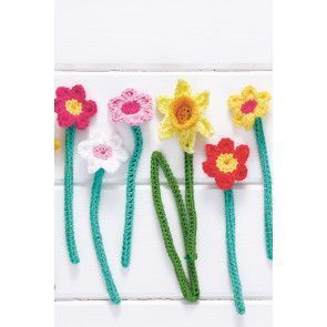 Pretty bunch of crocheted flowers