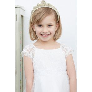 Crocheted tiara headband