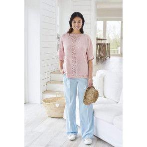 Lace V-Neck Tee Knitting Pattern