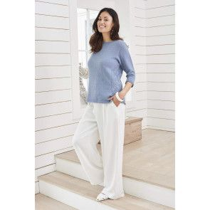 Ladies lace edge knitted top